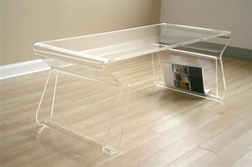 clear acrylic table