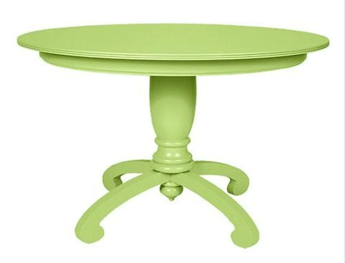 pistachio colored table