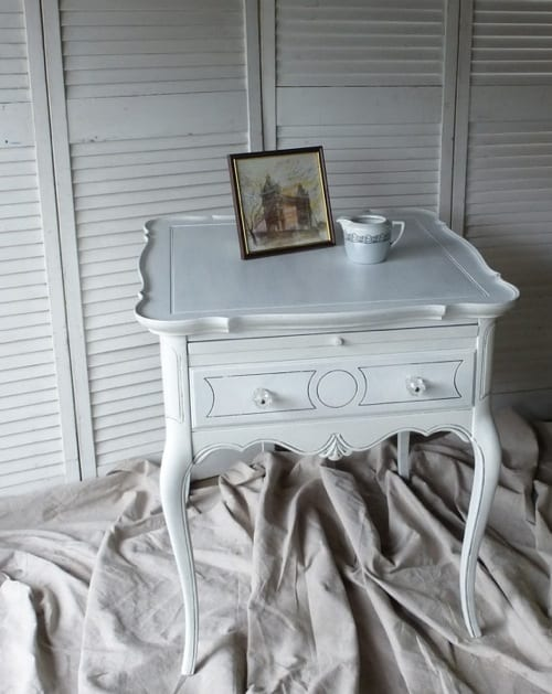 white French nightstand