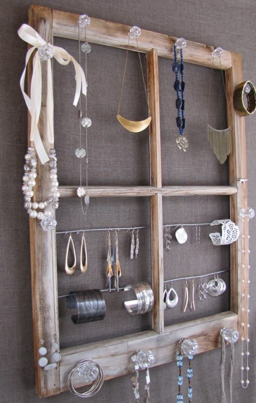 window jewelry organizer
