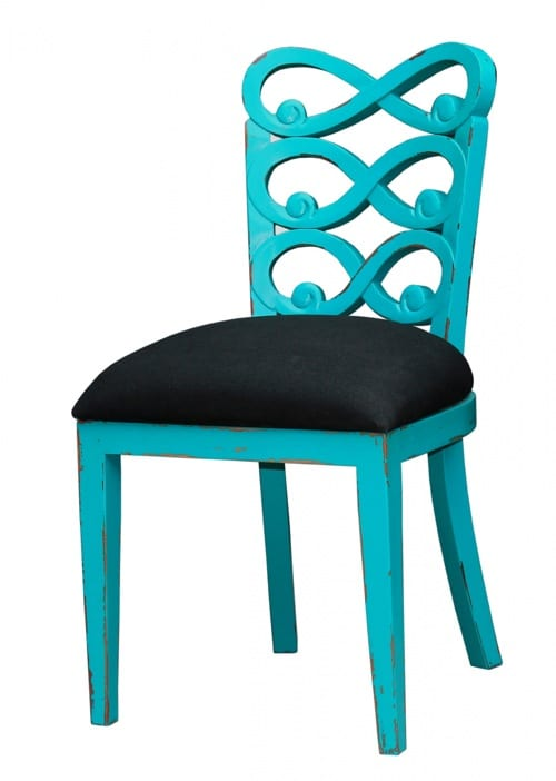 bright teal chair