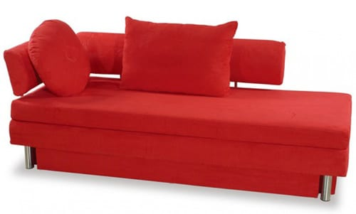 modern red daybed