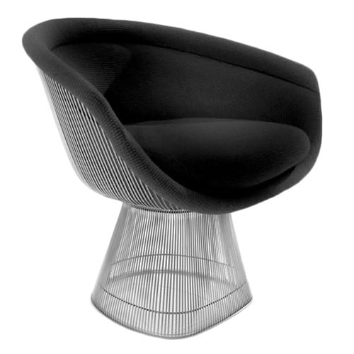 black midcentury easy chair