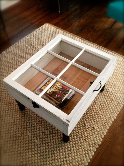 coffee table made from window