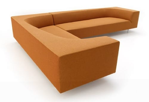 mod orange sectional
