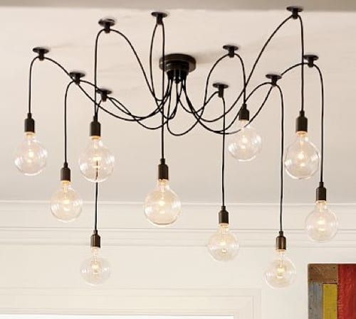 Edison Bare Ball Chandelier by Pottery Barn