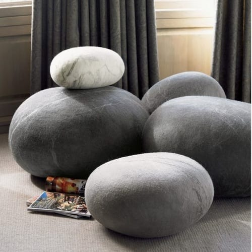 Felted Wool Cushions by Ronel Jordaan