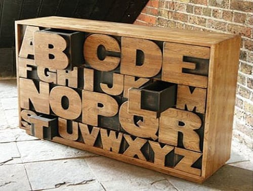 Handmade Sustainable Alphabet Chest by Kent and London