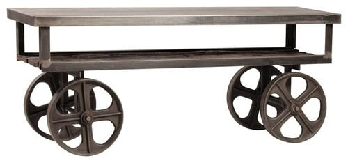 Industrial Rolling Media Console by Zin Home