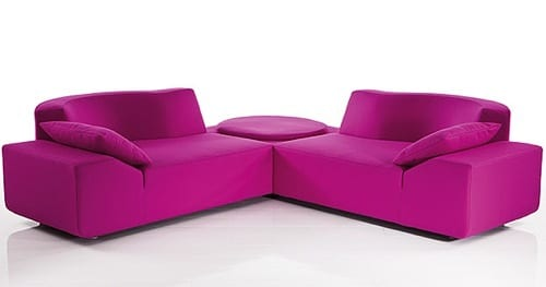 pink sectional sofa