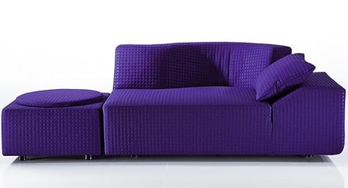 violet sectional sofa