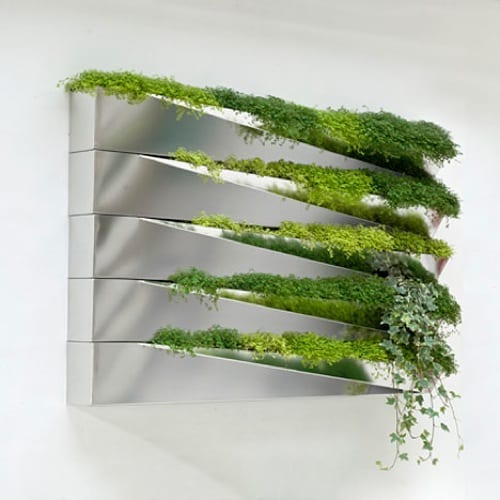 Modern Mirrored Planter from H2O Architects