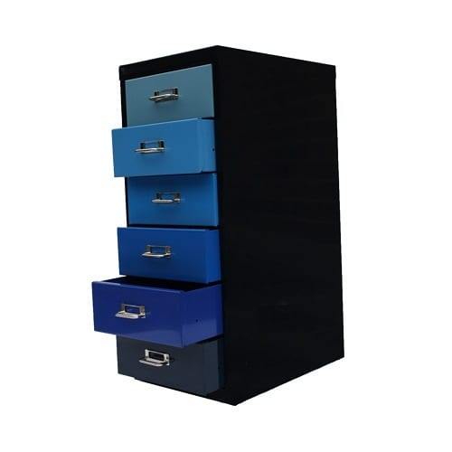 color blocked file cabinet