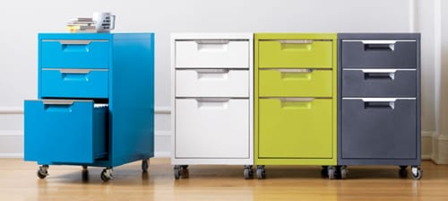 cool file cabinets on wheels