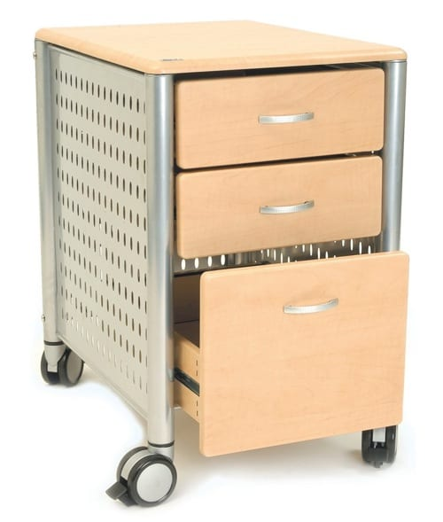 wood and metal file cabinet