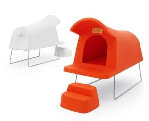 Orange Step-Up Dog House from Jensen Lewis