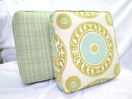 patterned floor pillows