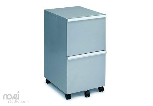 pale blue file cabinets