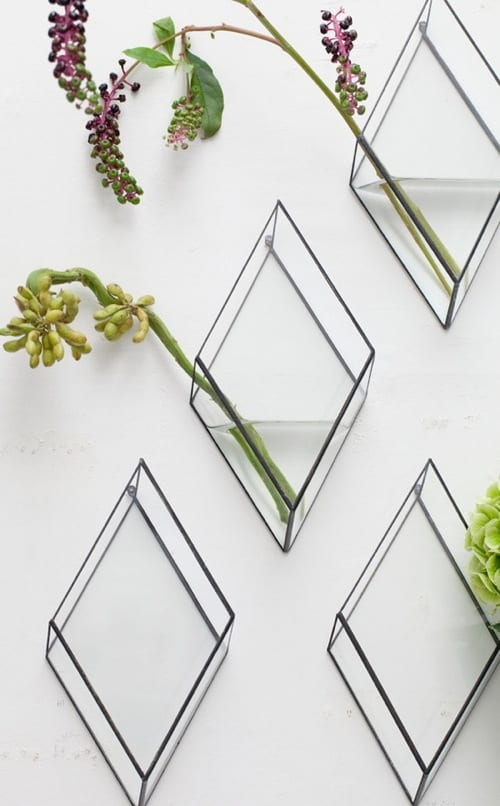 Unique Wall Mounted Vases from 1012 Terra