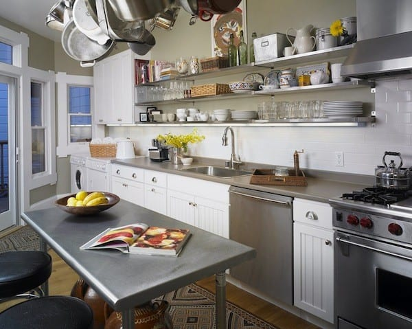 open shelving ideas stainless steel kitchen