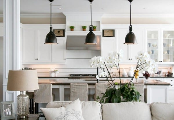 pendant lighting white kitchen