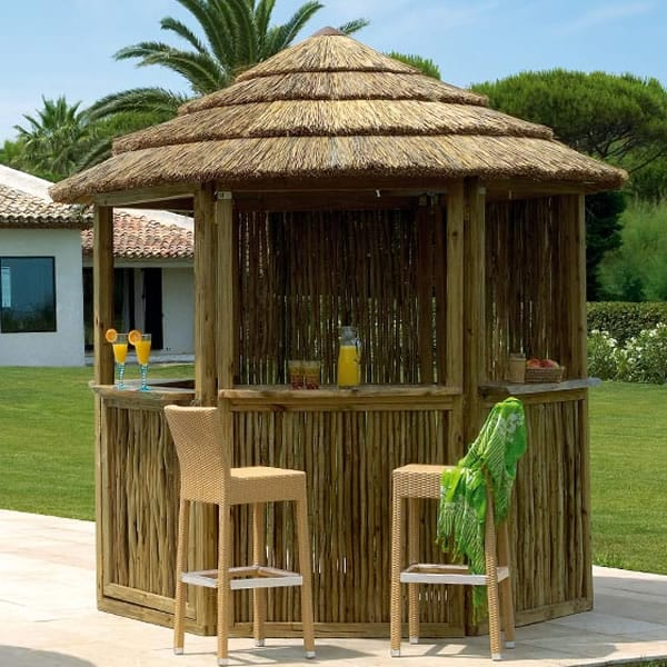 Africa gazebo perfect for your poolside entertaining