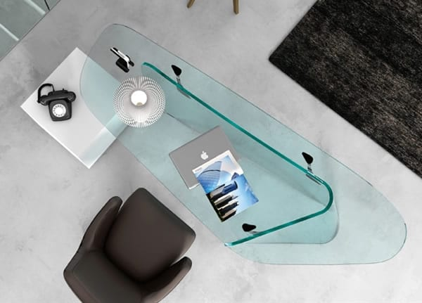 All Glass Desk