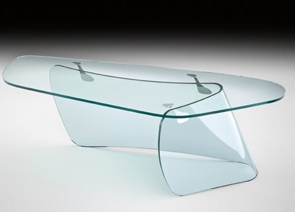 Sophisticated clear glas office furniture
