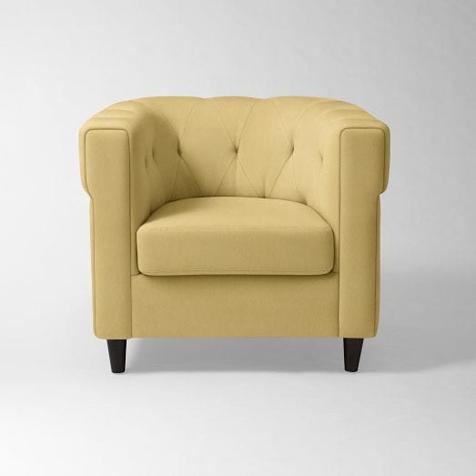 canary colored accent chairs