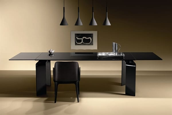 Ray Plus Black Dining Table by Fiam