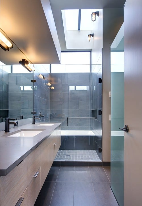 Large and Neutral Shower Tiles