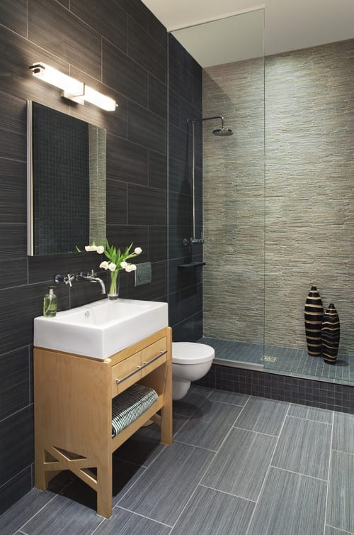 Mix and Matched Shower Tiles
