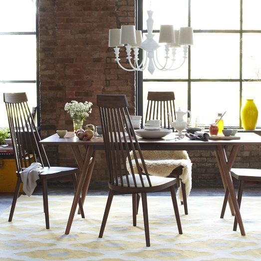 Parker Mid-Century Dining Table Brown