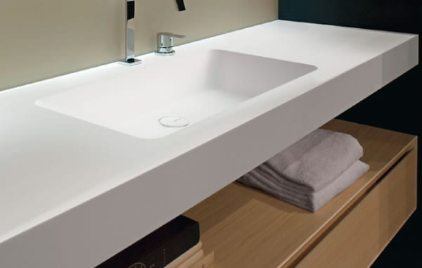 white countertop design
