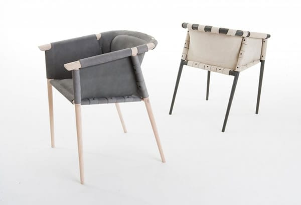 Modern Industrial Meets Retro Glamour: Cargo Chair