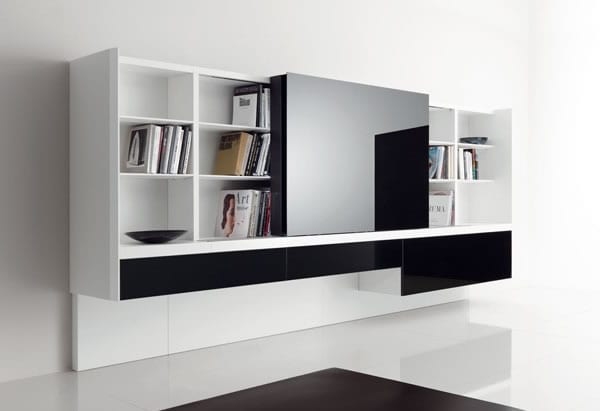 Sophisticated Storage Idea: Newind Wall Unit by Acerbis