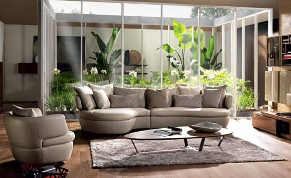 Modern Sophistication: The Nouveau Sectional by Natuzzi