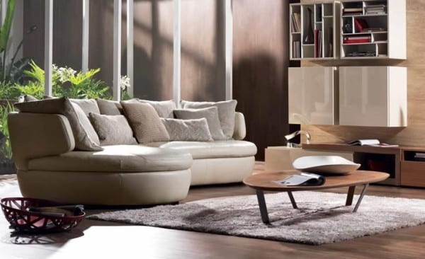 rounded sectional couch