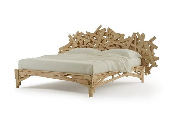 Rustic Chaos and Art: Favela Bed by Edra