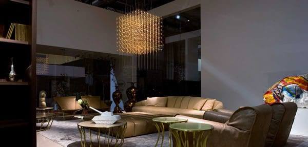 Adding Shimmer to your Interiors: Q3 Chandelier by Baxter