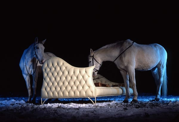 Mystical Dream Bedroom: Ivory Carriage Bed by Ola Voyna