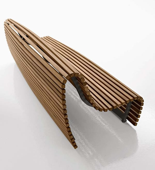 beautifully designed bench