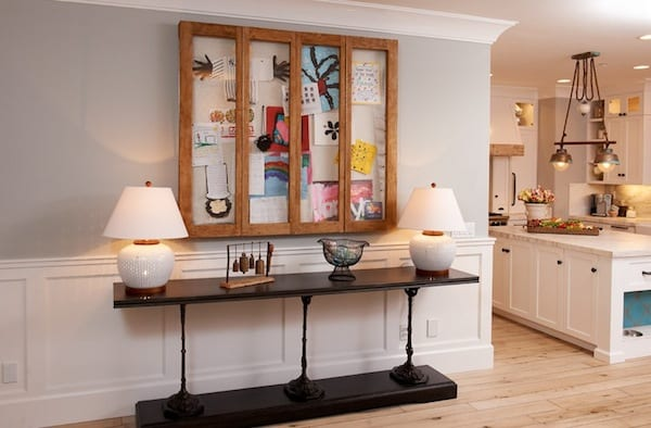Displaying kids artwork cabinetry