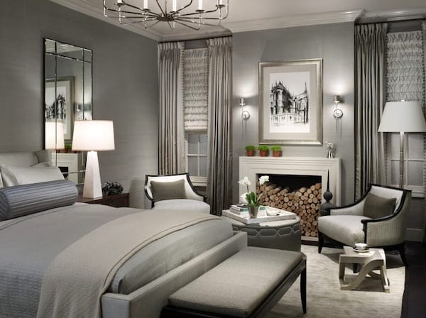 greige bedroom grays