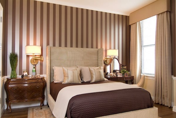 striped walls bedroom ideas