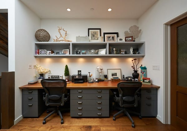 home office shared desk idea