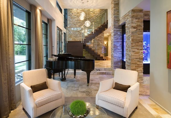 rock interiors living room stairs