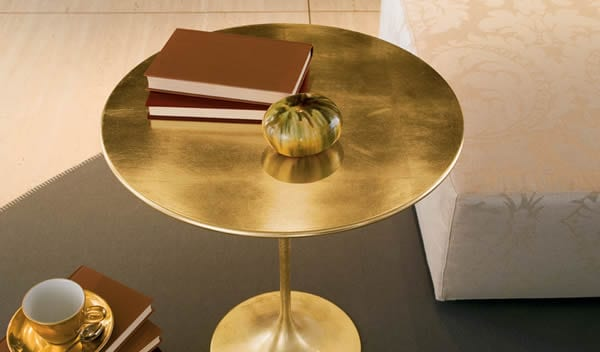 Shiny gold small table