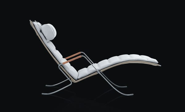 black and white chaise