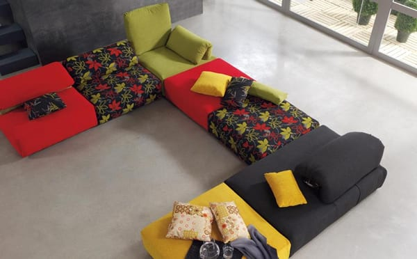 Colorful sectional sofa